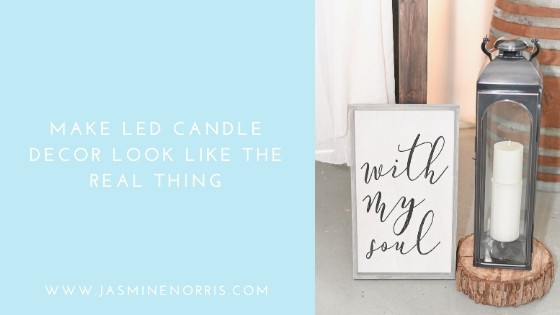 Make LED Candle Decor Look Like The Real Thing: Wedding Wednesday