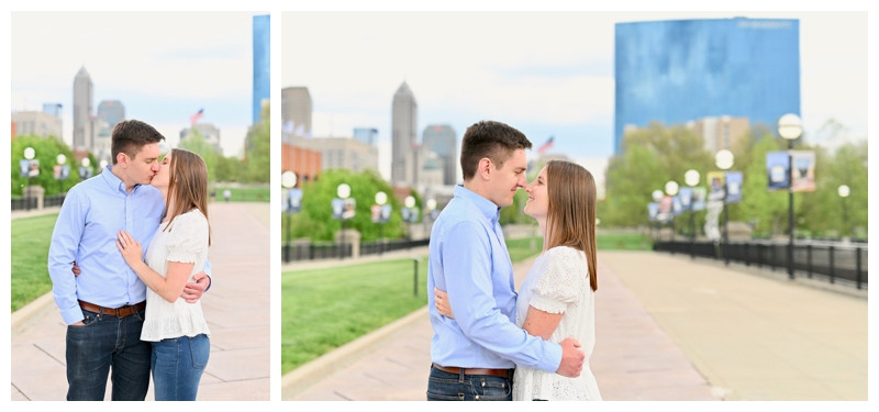 Indianapolis Canal Skyline Engagement White River State Park Photographer Photography