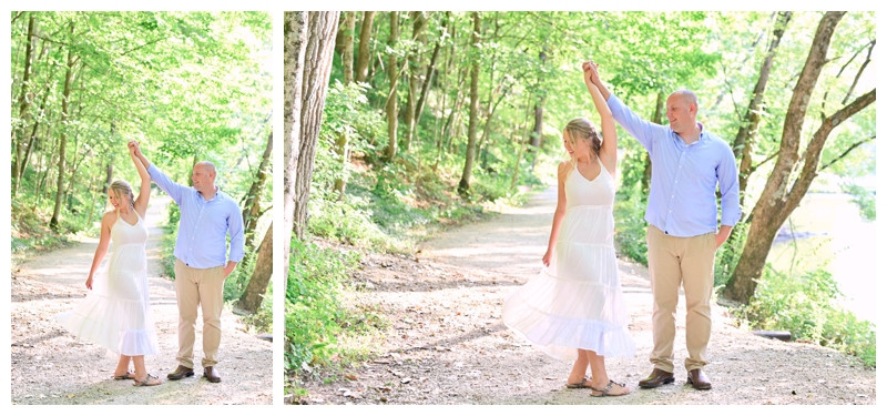 Mounds State Park Engagement Anderson Indiana Photographer Photography