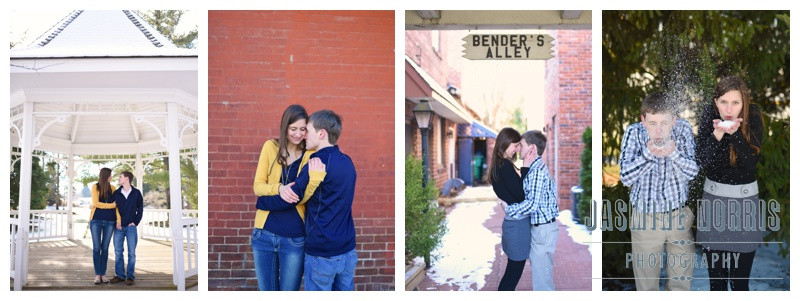 Downtown Zionsville Engagement Photographer Photography