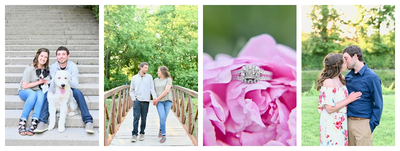 Holcomb Gardens Indianapolis Indiana Engagement: Lauren & Robert