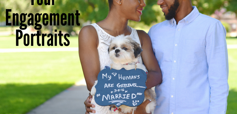 5 Tips for Including Pets in Your Engagement Portraits: Wedding Wednesday