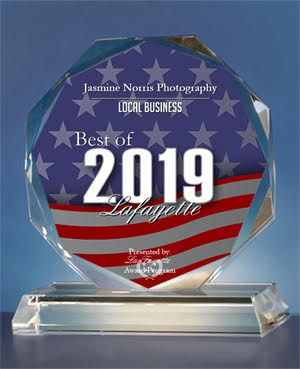 Jasmine Norris Photography Received 2019 Best of Lafayette Award