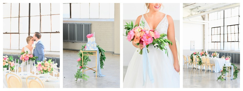 Greenery Filled Blush and Dusty Blue Wedding Inspiration at the Lake Erie Building in Cleveland Ohio