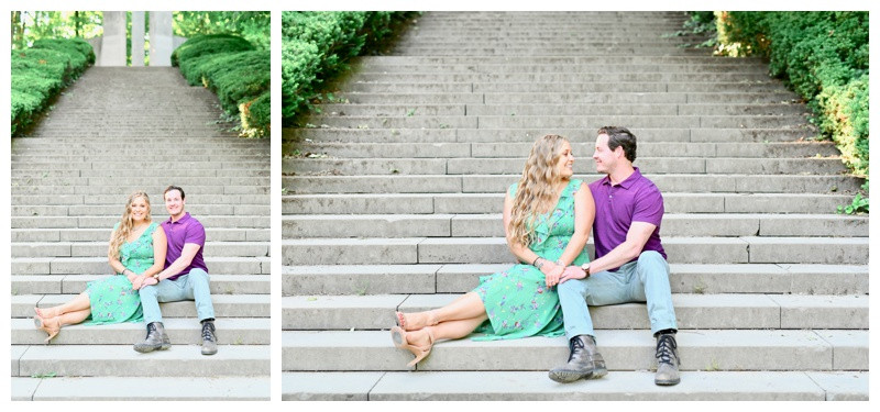 Holcomb Gardens Engagement Photographer Photography Butler University