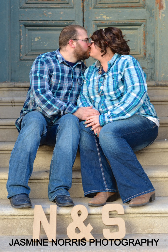 Lafayette Indiana Engagement Downtown Photographer