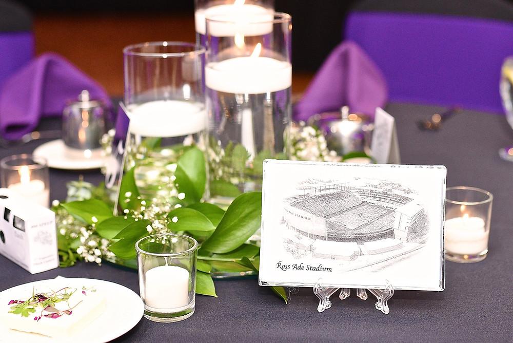 Ross Ade Stadium Table Number Indiana Wedding Photographer