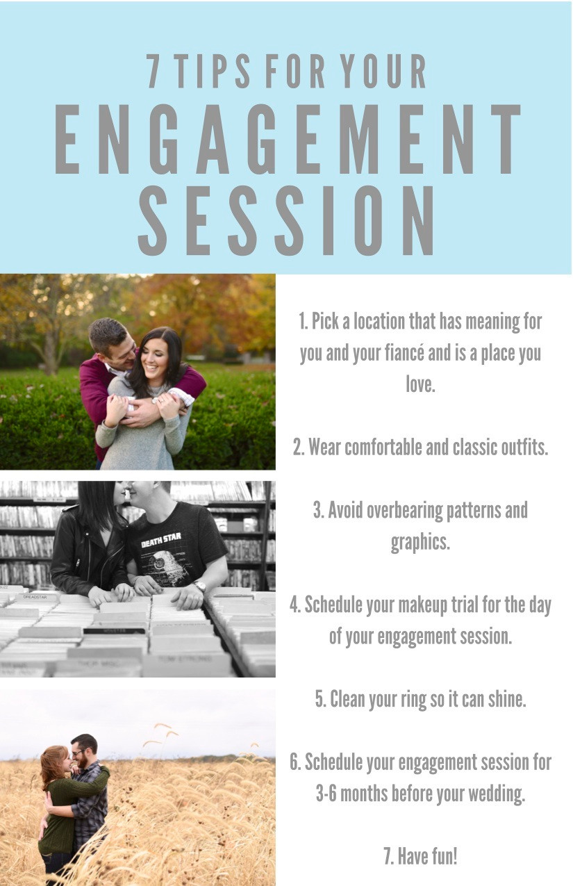 Tips for Your Engagement Session Indiana Wedding Photographer Photography