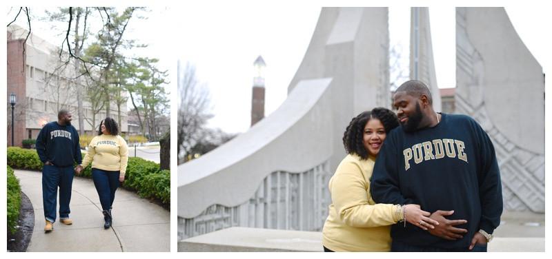 Purdue University Engagement Lafayette Indiana Indianapolis Photographer Photography