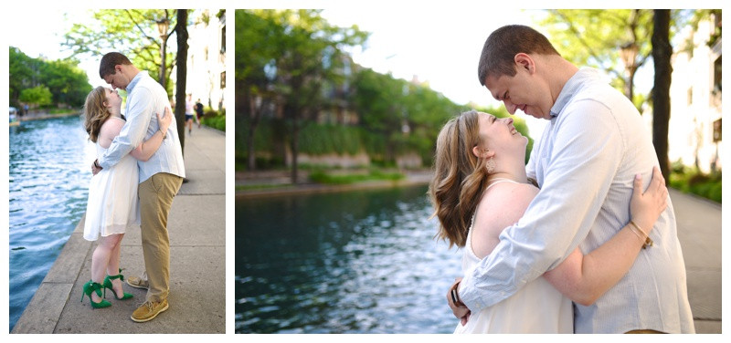 Downtown Indianapolis Indiana Canal Engagement Photographer Photography