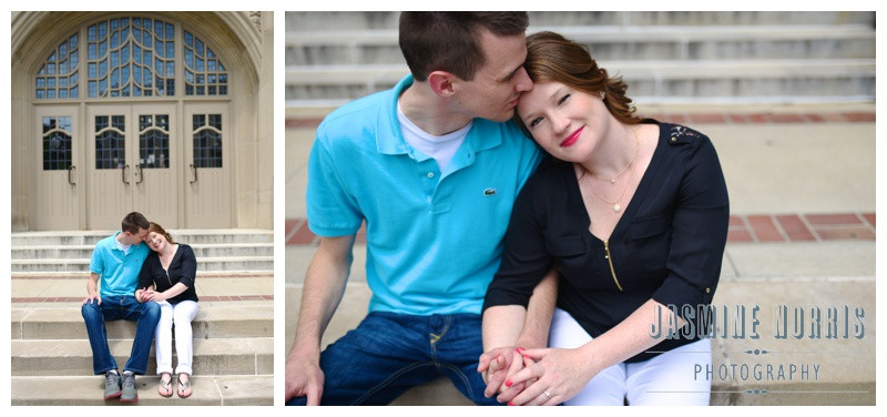 Purdue University Harry's Chocolate Shop West Lafayette Indiana Engagement Photographer Photography
