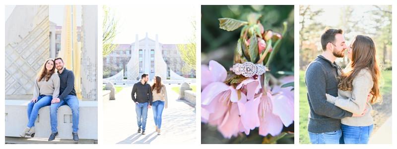Purdue University West Lafayette Indiana Engagement: Matt & Tina