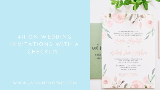 411 On Invitations With A Checklist: Wedding Wednesday