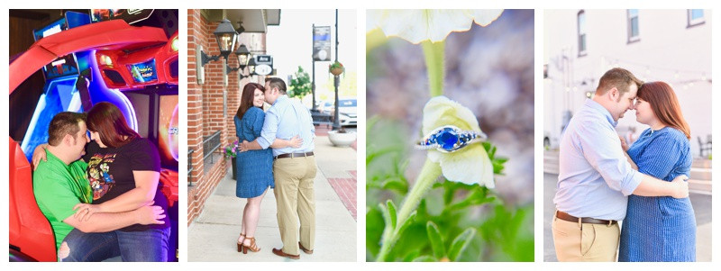 Downtown Greenfield Indiana Engagement: Stacey & Jared