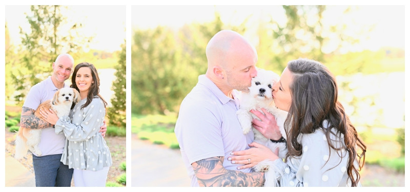 PUBLISHED: Brides & Weddings Magazine- Midwest Mansion and Park Engagement With Dog