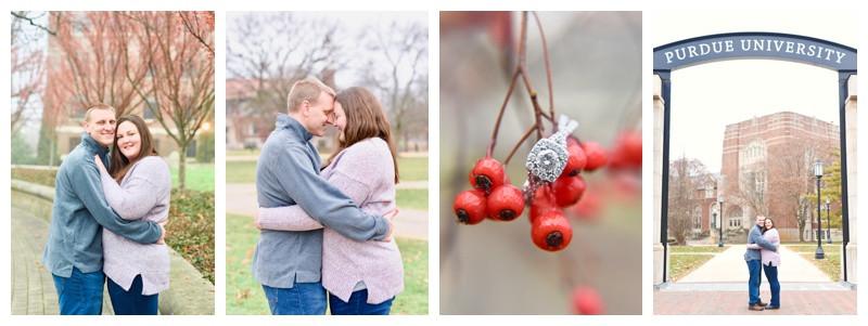Purdue University West Lafayette Indiana Engagement: Kaitlin & Jeff