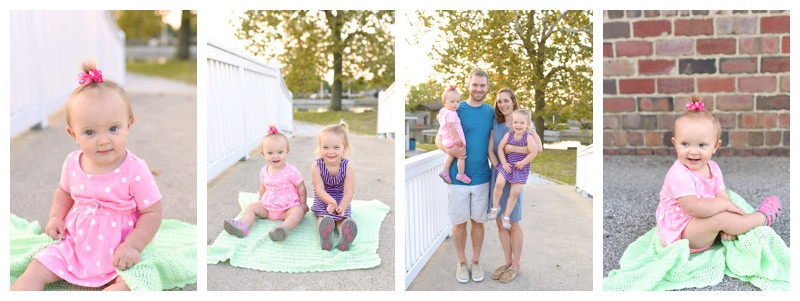 Columbian Park Lafayette Indiana Family Portraits and 1 Year Portraits: Clara and Family