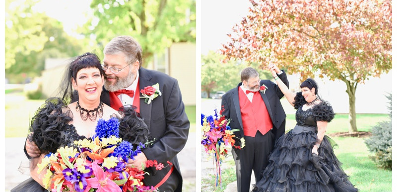 PUBLISHED- Offbeat Bride: This Bride Bought Her Black Dress 30 Years Ago and Finally Got To Wear It