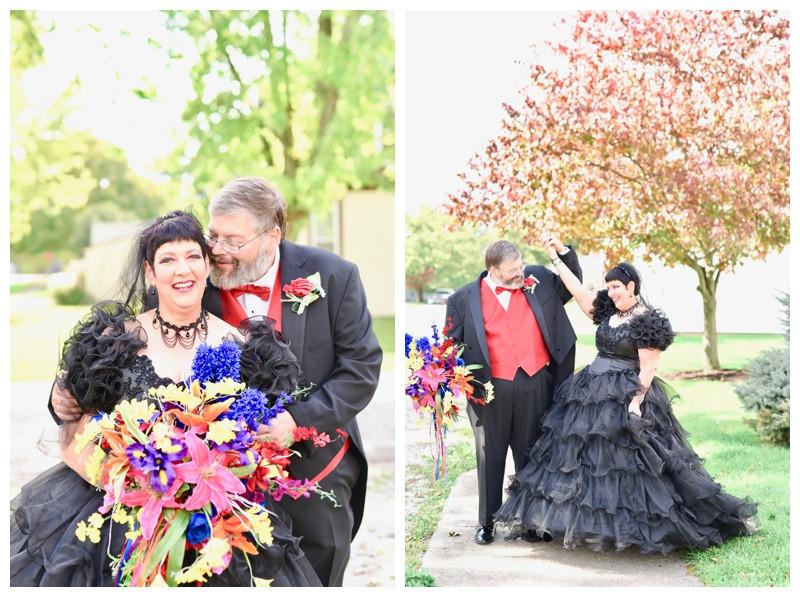 Indiana Wedding Photographer Halloween Wedding Lafayette Indianapolis Mulberry