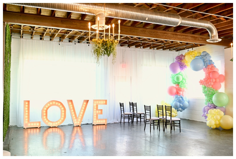 Indianapolis Indiana Colorful Rainbow Same Sex Wedding Photographer Photography