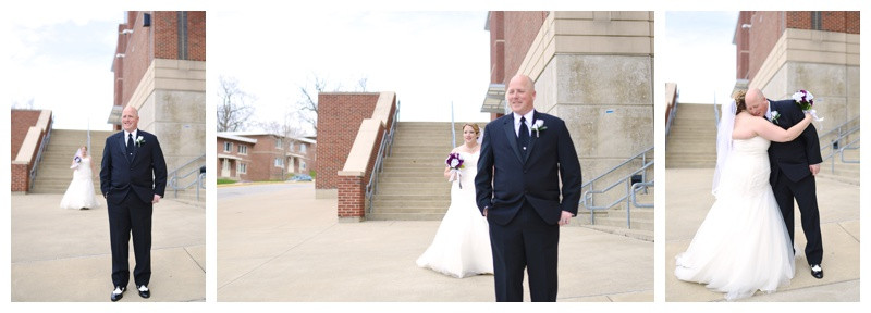 Purdue University Ross Ade Stadium First Look Wedding Lafayette Indiana Indianapolis