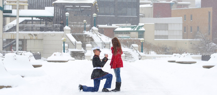 PUBLISHED: Two Bright Lights- Engagement Shoot: Surprise Snowy Proposal