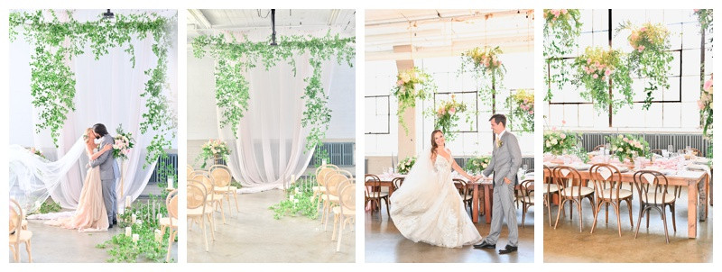 Lush Greenery Filled Luxury Wedding Inspiration at The Lake Erie Building in Cleveland Ohio