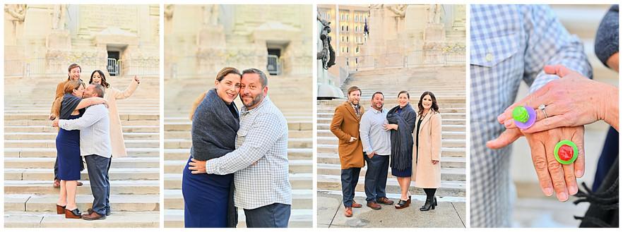 Indianapolis Indiana Monument Circle Elopement: Tara and Glenn