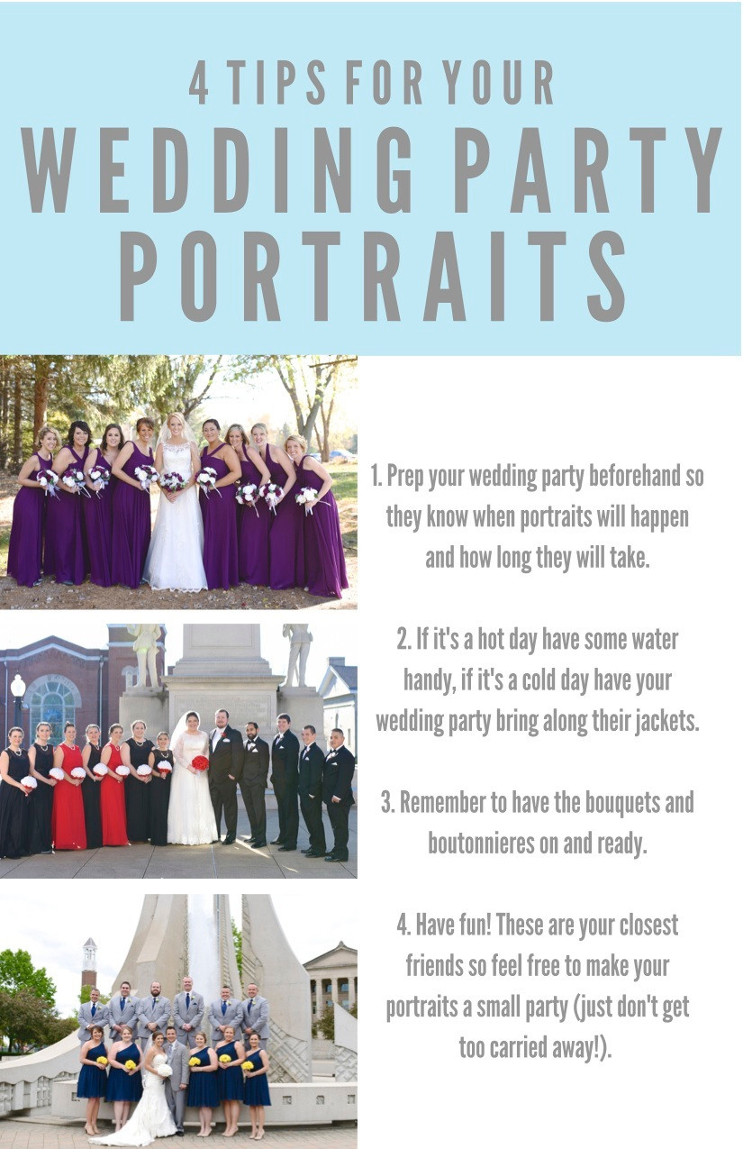 Tips For Your Wedding Party Portraits Indiana Wedding Photographer Photography