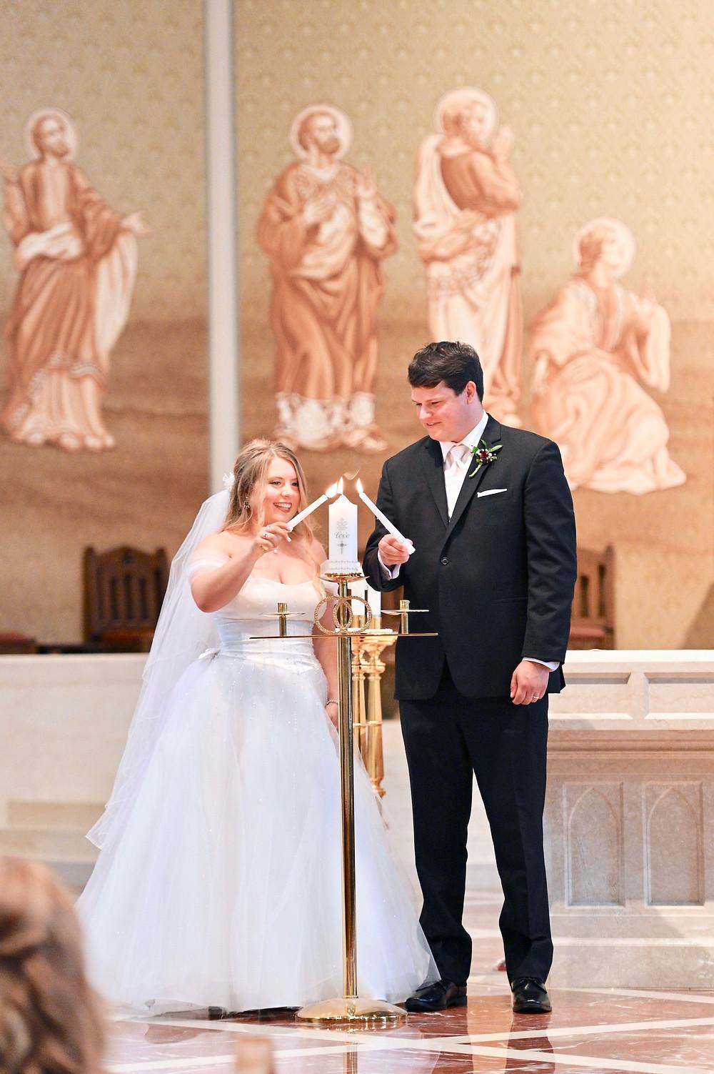 Unity Candle Lafayette Indiana Wedding Photographer Photography