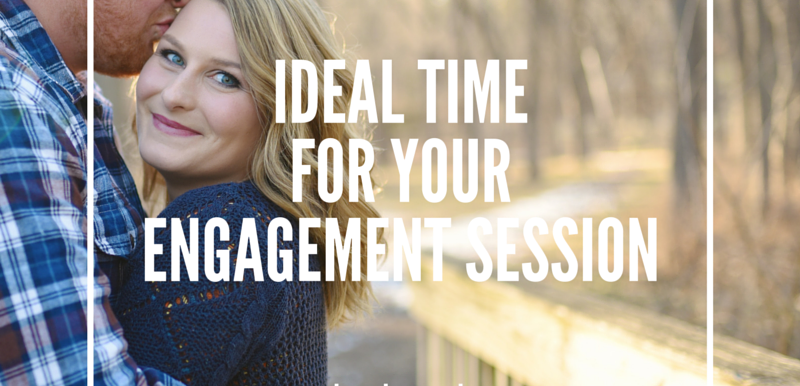 Ideal Time to Take Your Engagement Portraits: Wedding Wednesday