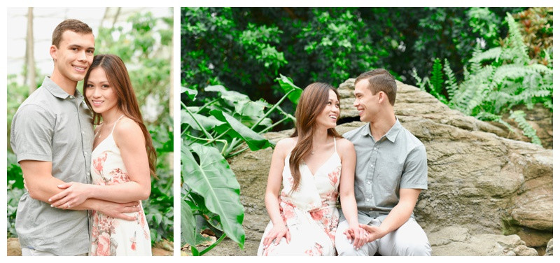 Fort Wayne Indiana Botanical Garden Engagement Photography Photographer Lafayette Indianapolis