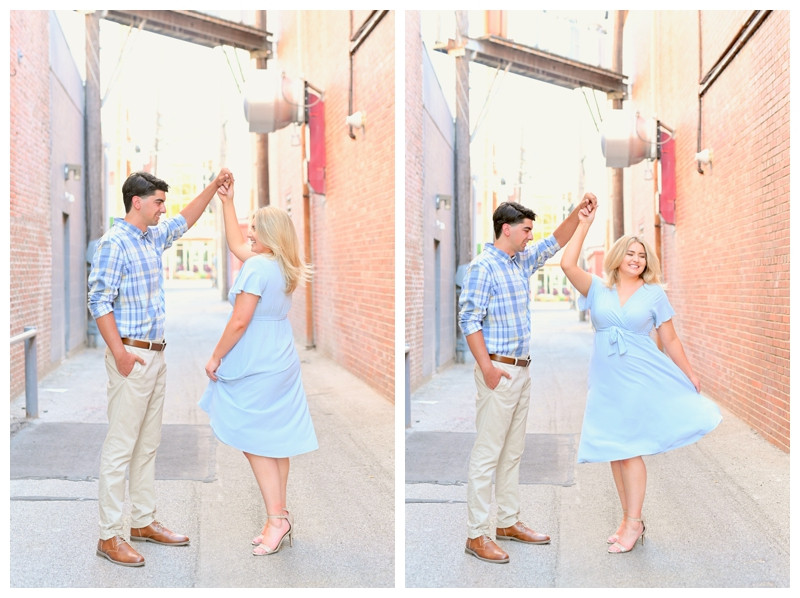 Downtown Lafayette Indiana Engagement Photographer Photography