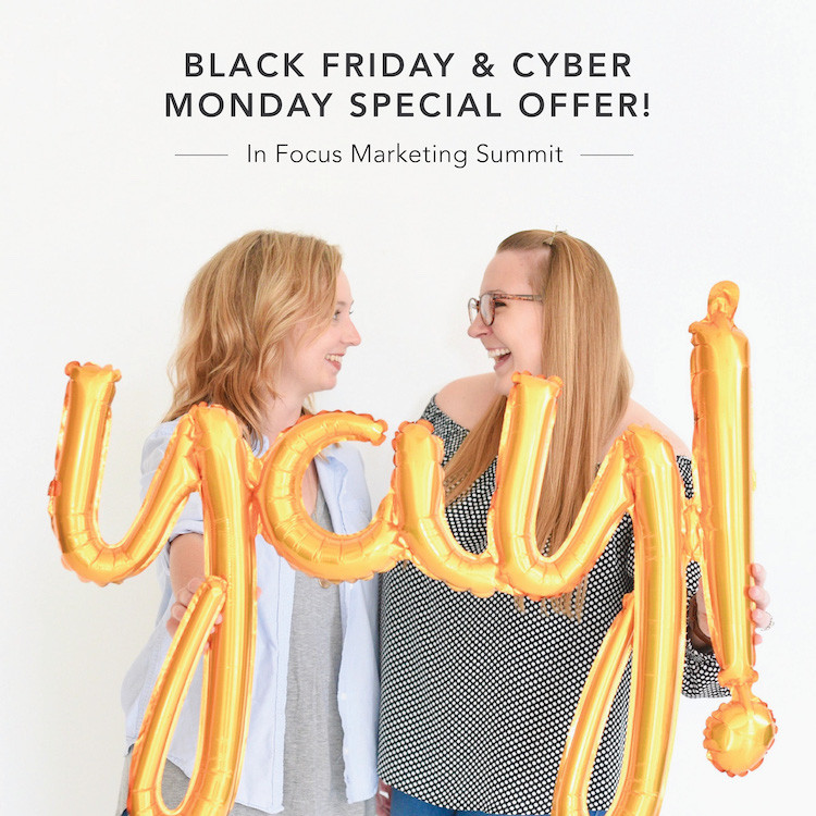 In Focus Marketing Summit A Workshop For Photographers Black Friday Cyber Monday