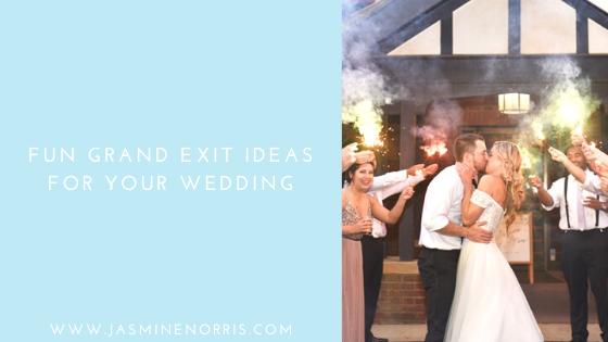 Fun Grand Exit Ideas: Wedding Wednesday