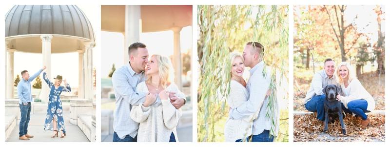 Coxhall Gardens Carmel Indiana Engagement Photographer Photography