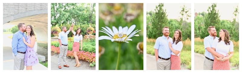 Coxhall Gardens Carmel Indiana Engagement: Madeline & Matthew