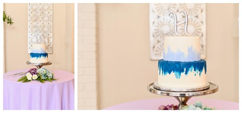 Blue Watercolor Wedding Cake Inspiration Balmoral House Indianapolis Wedding Photographer