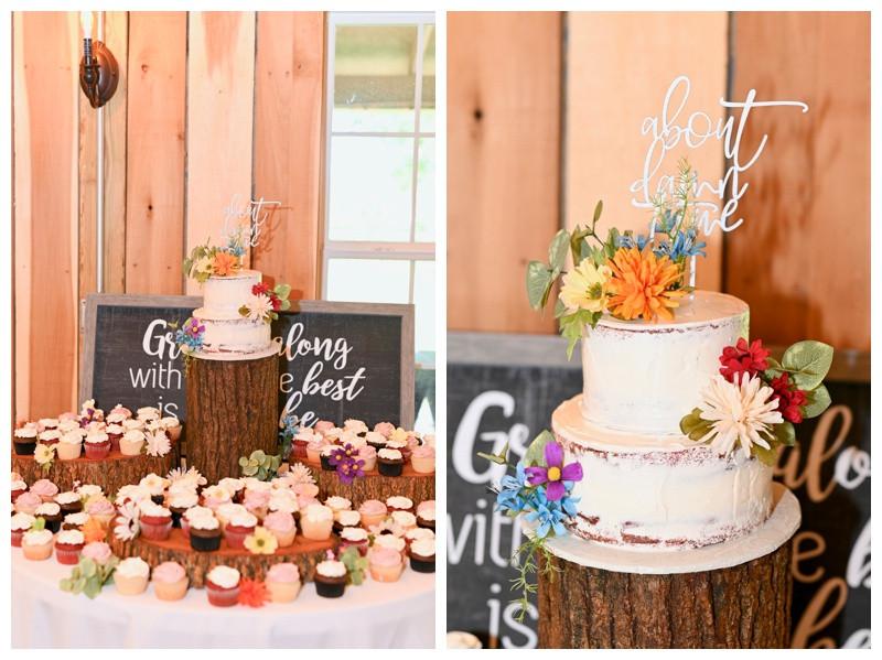 Rustic Wedding Cake Inspiration Barn At Hawks Point Anderson Indiana Wedding Photographer