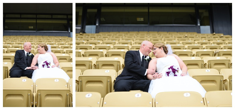 Ross Ade Stadium Purdue University West Lafayette Indiana Wedding Photographer Photography