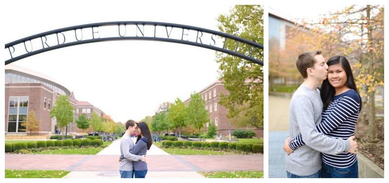 Purdue University Happy Hollow West Lafayette Indiana Engagement Photographer Photography