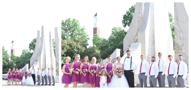 Ross Ade Stadium Purdue University Trinity United Methodist Church Lafayette Indiana Wedding Photographer Photography Indianapolis