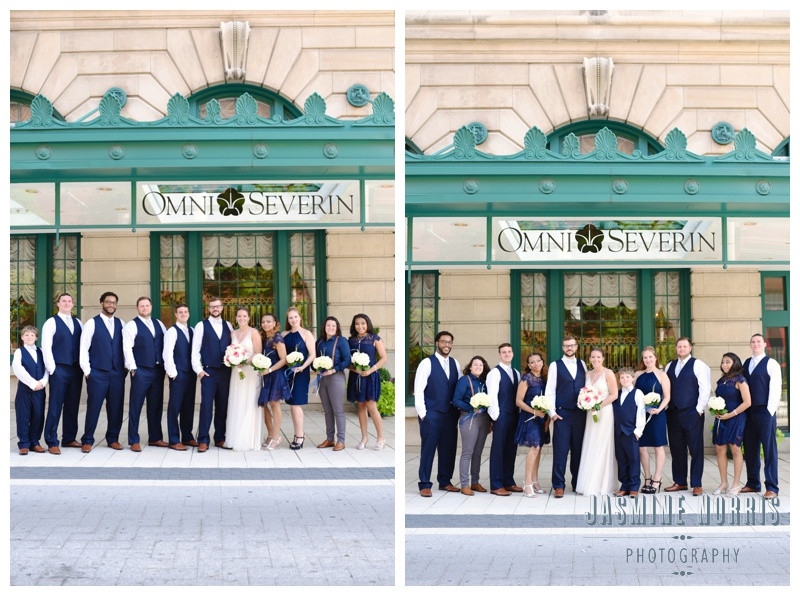 Downtown Indianapolis Indiana Omni Severin Hotel Wedding Photographer Photography