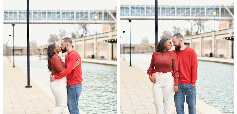 PUBLISHED: Black Nuptials- Urban Downtown Indianapolis Engagement