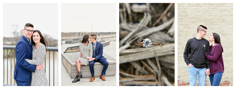 Downtown Lafayette Indiana Engagement: Madeline & Christian