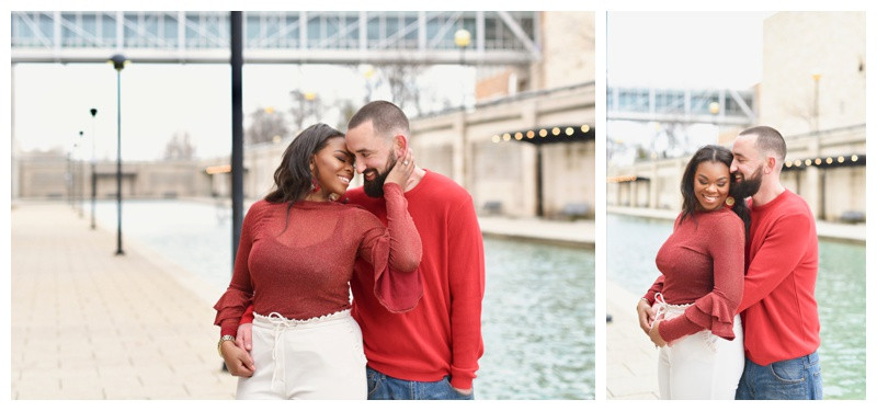 Downtown Indianapolis Engagement Photographer White River State Park
