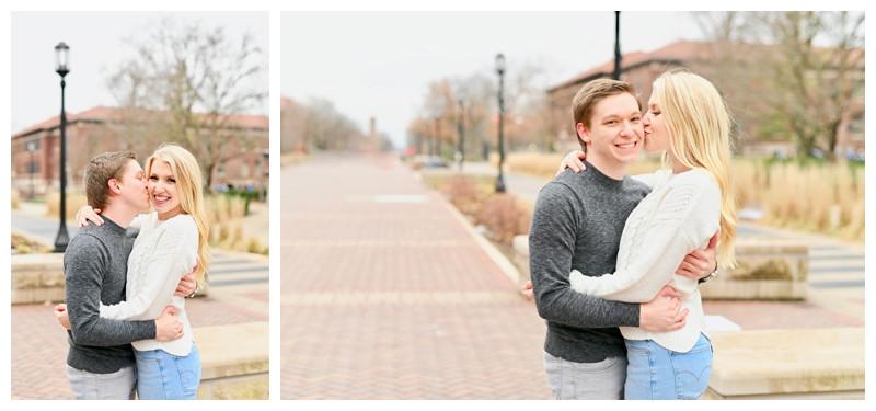Purdue University Engagement West Lafayette Indiana Photographer Photography