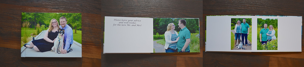 Engagement Photo Guestbook
