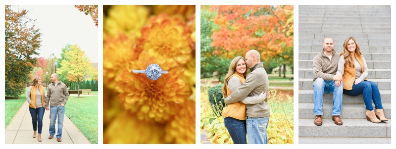 Notre Dame South Bend Indiana Engagement: Misty & Jon