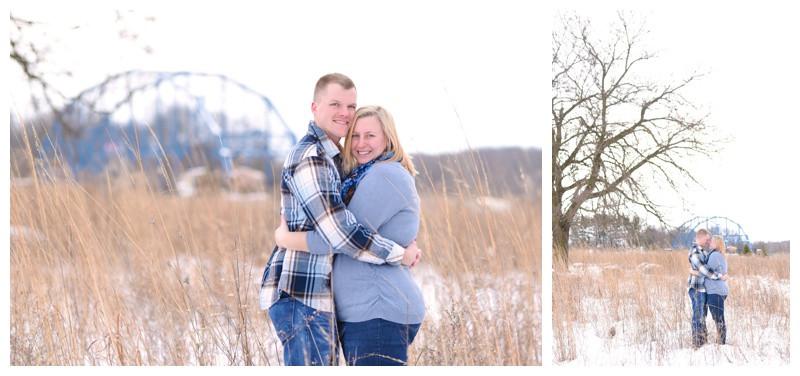 Delphi Indiana Freedom Bridge Engagement Photographer Photography Lafayette Indianapolis